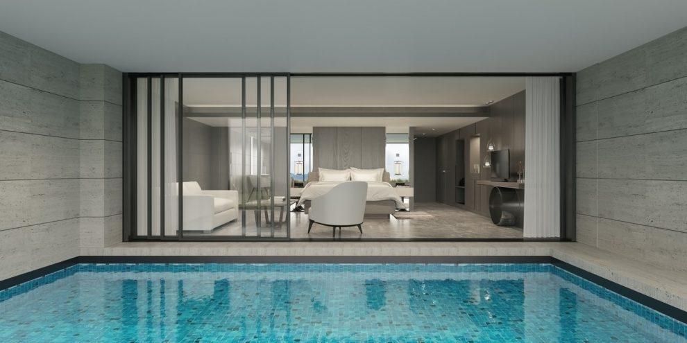 piscine en intérieur